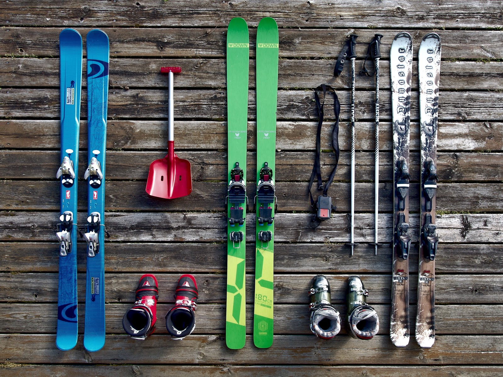 ski equipment storage